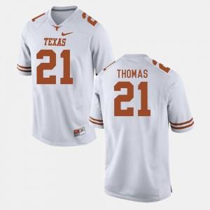 White For Men's #21 Duke Thomas UT Jersey College Football