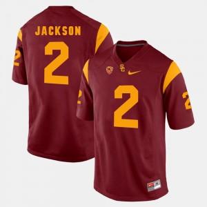 Men Red Adoree' Jackson Trojans Jersey #2 Pac-12 Game