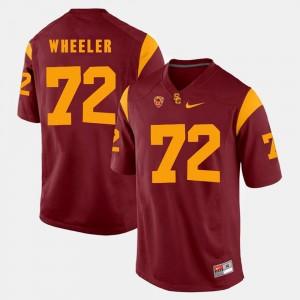 Pac-12 Game Men Red Chad Wheeler USC Trojans Jersey #72