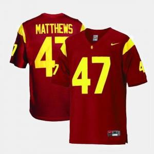 Red Clay Matthews USC Trojans Jersey For Men #47 College Football