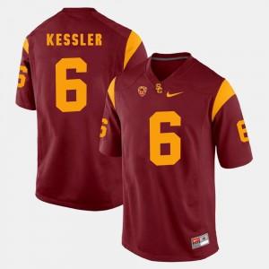 Red Cody Kessler USC Trojans Jersey #6 Pac-12 Game Men