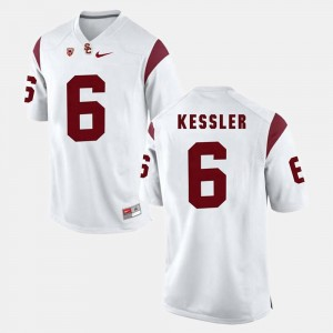 #6 For Men White Cody Kessler USC Trojans Jersey Pac-12 Game