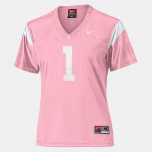 College Football #1 For Women Pink Trojans Jersey