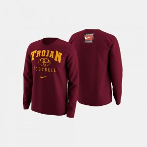 College Football Retro Pack Trojans Sweater For Men's Cardinal