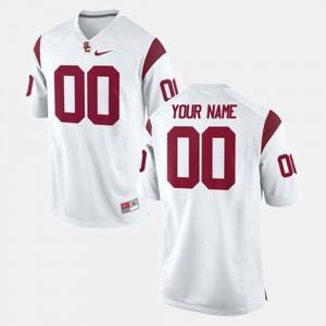#00 USC Custom Jersey Men College Football White