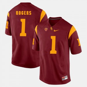 #1 For Men Darreus Rogers USC Trojans Jersey Red Pac-12 Game