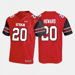 Jordan Howard Utah Utes Jersey Red #20 College Football Men