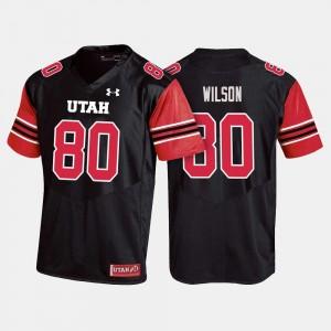 Siaosi Wilson Utah Jersey Mens #80 College Football Black
