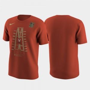 2019 Men's Basketball Champions Men Orange University of Virginia T-Shirt 2019 NCAA Basketball National Champions Celebration Ladder