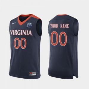 Virginia Custom Jersey Navy #00 2019 Men's Basketball Champions For Men 2019 Basketball Champions