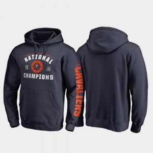 Men's Cavaliers Hoodie Navy 2019 NCAA Basketball National Champions Dribble Pullover 2019 Men's Basketball Champions