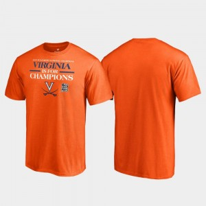 2019 NCAA Basketball National Champions Goaltend UVA Cavaliers T-Shirt Orange 2019 Men's Basketball Champions Men