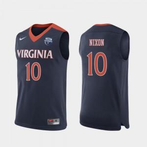 Men's Navy Jayden Nixon UVA Cavaliers Jersey #10 2019 Men's Basketball Champions 2019 Basketball Champions