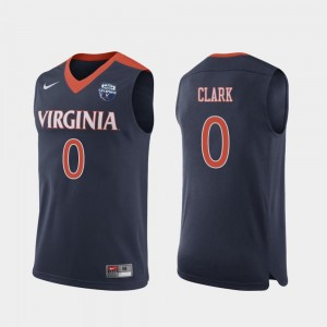Men's Navy 2019 Men's Basketball Champions 2019 Basketball Champions #0 Kihei Clark Virginia Jersey
