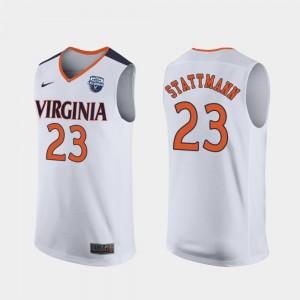 2019 Basketball Champions Kody Stattmann UVA Jersey White 2019 Men's Basketball Champions Mens #23