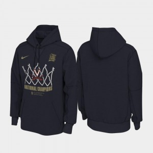 Mens 2019 NCAA Basketball National Champions Locker Room Pullover Navy University of Virginia Hoodie 2019 Men's Basketball Champions