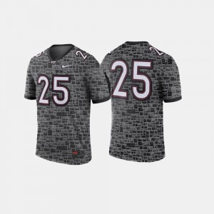 College Football Men Anthracite #25 Hokies Jersey