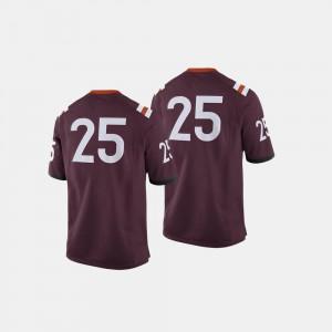 Men Maroon College Football #25 Hokies Jersey