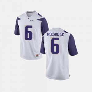 White Chico McClatcher Washington Huskies Jersey #6 College Football Men