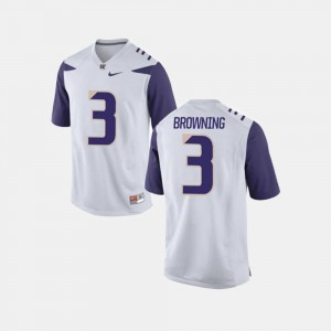 #3 Jake Browning University of Washington Jersey For Men's White College Football