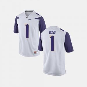 College Football #1 White Men John Ross III University of Washington Jersey