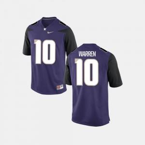 College Football For Men Purple Jusstis Warren UW Jersey #10