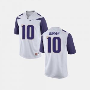 Jusstis Warren UW Huskies Jersey #10 White College Football For Men's
