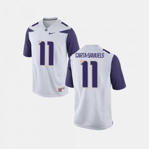 K.J. Carta-Samuels UW Jersey #11 Mens College Football White
