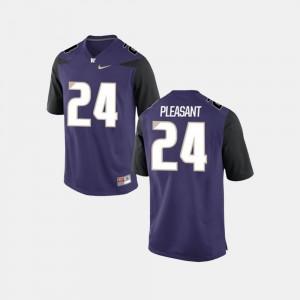 College Football Kamari Pleasant UW Jersey Purple #24 For Men