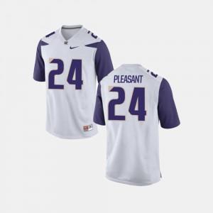 Men #24 White College Football Kamari Pleasant Washington Huskies Jersey