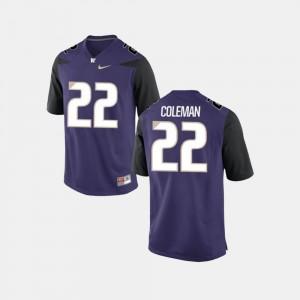 College Football Lavon Coleman UW Jersey Men Purple #22
