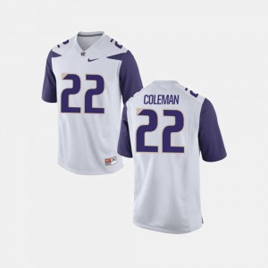 White Lavon Coleman Washington Jersey #22 Men's College Football