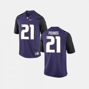 College Football For Men's #21 Quinten Pounds Washington Jersey Purple