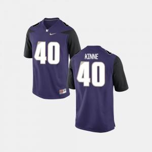 College Football Men's Ralph Kinne UW Huskies Jersey #40 Purple