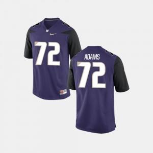 Trey Adams UW Huskies Jersey Purple College Football #72 Men's