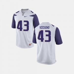 Tristan Vizcaino UW Huskies Jersey College Football For Men's White #43