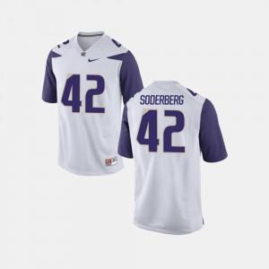 White Van Soderberg University of Washington Jersey College Football #42 For Men