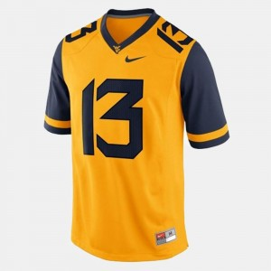 Gold Andrew Buie WVU Jersey #13 For Men College Football