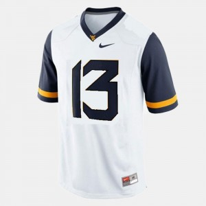 College Football Youth(Kids) #13 White Andrew Buie West Virginia Jersey
