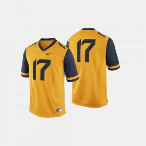 #17 College Football Gold Mountaineers Jersey Mens