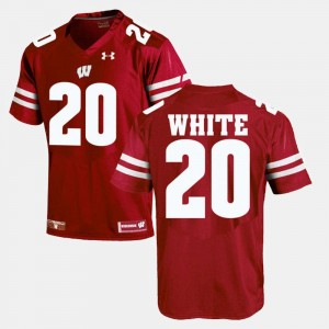 #20 Red James White Wisconsin Jersey For Men's Alumni Football Game