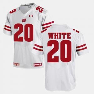 James White UW Jersey Alumni Football Game White #20 Men's