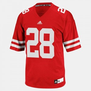 College Football Montee Ball Wisconsin Badgers Jersey Red #28 For Men's