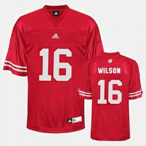 Russell Wilson Wisconsin Jersey #16 Mens College Football Red