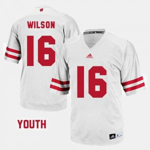 Russell Wilson UW Jersey Youth(Kids) #16 College Football White