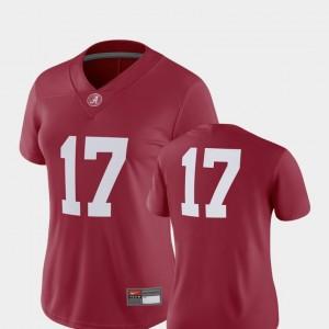 Crimson #17 Alabama Jersey 2018 Game Nike Womens College Football