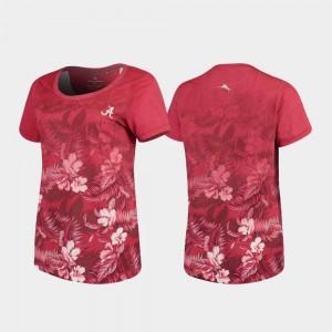 Crimson Bama T-Shirt Tommy Bahama Women's Floral Victory
