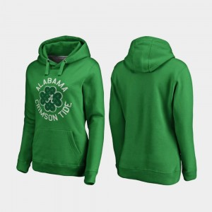 St. Patrick's Day Luck Tradition Fanatics Branded Kelly Green Women University of Alabama Hoodie