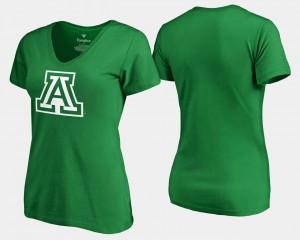 St. Patrick's Day Kelly Green White Logo Fanatics Branded Arizona T-Shirt Women's