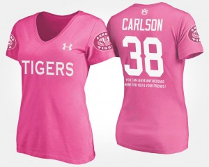 Daniel Carlson AU T-Shirt Name and Number With Message Pink #38 For Women